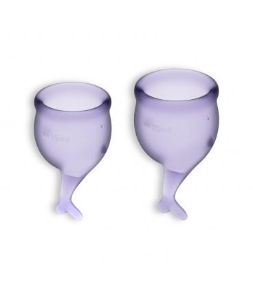 FEEL SECURE 2 MENSTRUAL CUPS SET SATISFYER LILAC