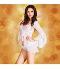 BABYDOLL AND THONG CR-3534 WHITE