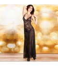 BABYDOLL AND THONG CR-3470 BLACK