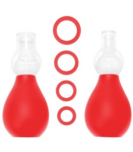 OUCH! NIPPLE ERECTOR SET RED