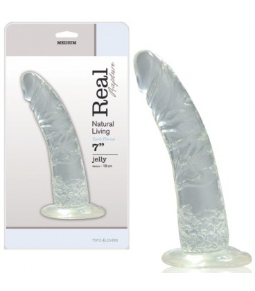DILDO REAL RAPTURE EARTH FLAVOUR 7'' TRANSPARENTE