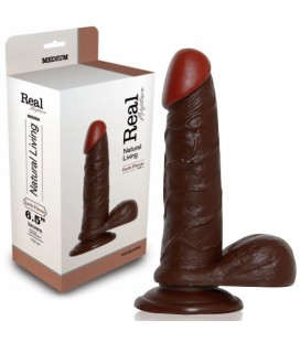 DILDO REALÍSTICO REAL RAPTURE EARTH FLAVOUR 6.5'' NEGRO