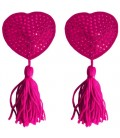 HEART NIPPLE TASSELS OUCH! NIPPLE COVERS PINK
