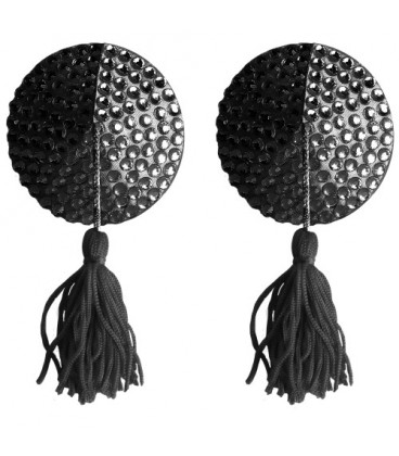 CUBRE PEZONES OUCH! ROUND NIPPLE TASSELS NEGROS