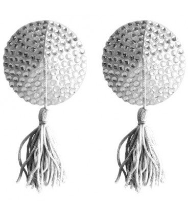 CUBRE PEZONES OUCH! ROUND NIPPLE TASSELS BLANCOS