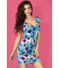 MINI DRESS CR-3683 BLUE