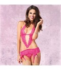 PINK LACE BODY DECORATED BY SATIN BOWS