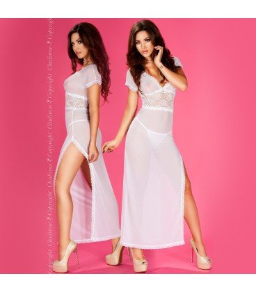 BABYDOLL AND THONG CR-3625 WHITE