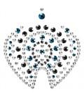 MIMI FLAMBOYANT METALLIC BODY ORNAMENTS BIJOUX INDISCRETS BRONZE AND BLUE