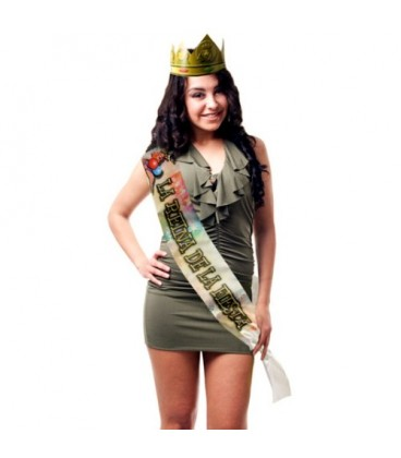 """PARTY BAND AND CROWN """"THE QUEEN OF THE PARTY"""" IN SPANISH"""