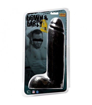 "DILDO WILDFIRE DOWN & DIRTY 9"" PRETO"