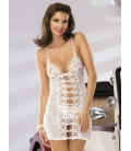 OBSESSIVE CHEMISE AND THONG BRIDE WHITE