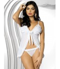 OBSESSIVE MADAME BABYDOLL AND THONG WHITE