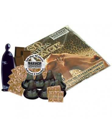 MEGA PACK WITH 50 CHOCOLATE CONDOMS