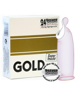 GOLD EXTRA LUB CONDOMS 24 UNITS