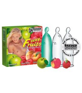SEXY FRUITS CONDOMS 24 UNITS