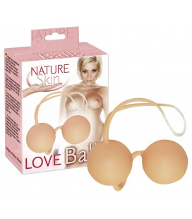 BOLAS VAGINALES LOVE BALLS NATURE SKIN BLANCAS