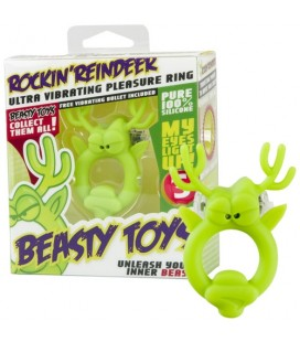 VIBRATING RING WITH LIGHT BEASTY TOYS ROCKIN' REINDEER